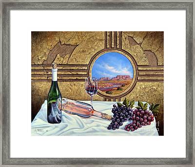 Zia Wine Framed Print by Ricardo Chavez-Mendez