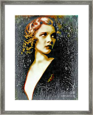 Ziegfeld Follies Girl - Drucilla Strain  Framed Print