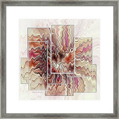 Zig And Zag Framed Print by Deborah Benoit