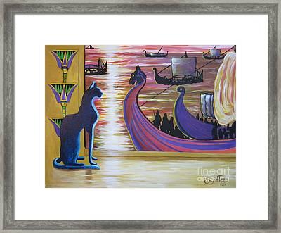 Zig Of Blaa Kattproduksjoner   Inspects The Ships Framed Print