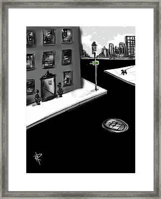 Zig Zag City Framed Print by Russell Pierce