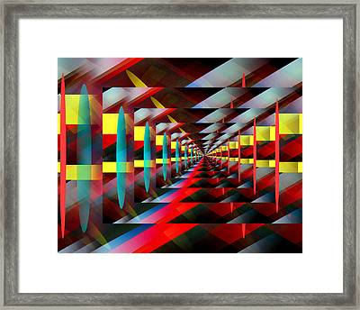 Zig Zag Framed Print by John Krakora
