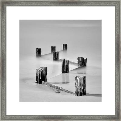 Zig Zag Framed Print by Mihai Florea