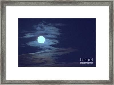Zig Zag Moon Framed Print by Mary Deal