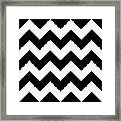 Zig Zag Pattern Framed Print by Chuck Staley