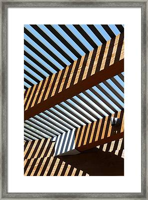 Zig Zag Shadows Framed Print