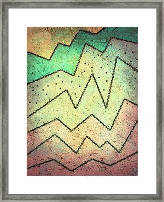 Zig Zag Two Abstract Art Framed Print by Ann Powell