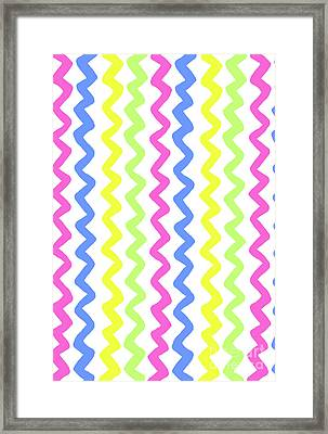 Zig Zags Framed Print by Louisa Knight