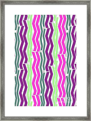 Zig Zig Stripes Framed Print by Louisa Knight