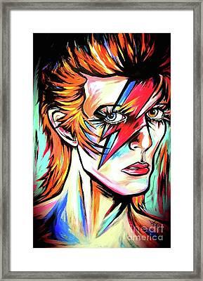 Ziggy Stardust Framed Print by Amy Belonio