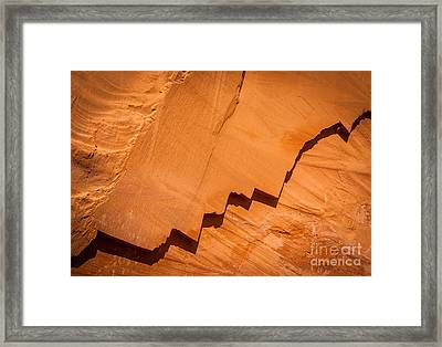 Zigzag Sandstone Framed Print by Inge Johnsson