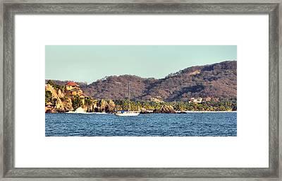 Zihuatanejo Bay Framed Print