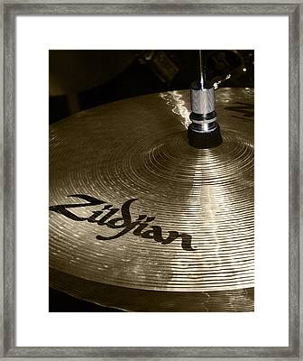 Zildjian Cymbal Framed Print