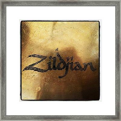 #zildjian #drums #drummer #cymbal Framed Print by Bradley Whitehead