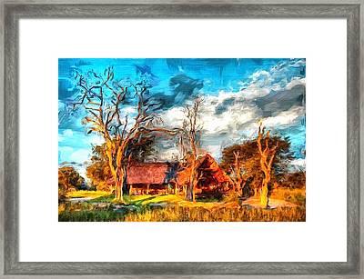 Zimbabwe Homestead Framed Print by Mario Carini