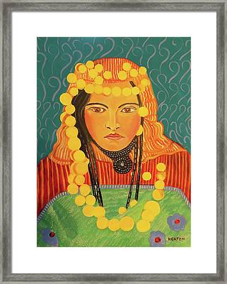 Framed Print featuring the painting Zina by John Keaton
