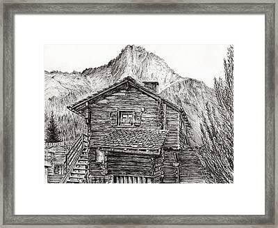 Zinal Switzerland Framed Print