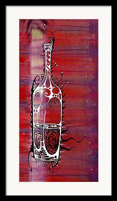 Bottled Paintings Framed Prints