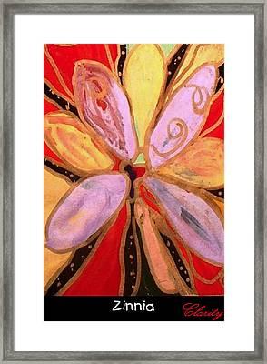 Zinnia Framed Print by Clarity Artists