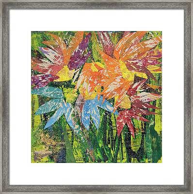 Zinnias Gone Mad Framed Print