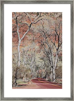 Zion At Kayenta Trail Framed Print by Viktor Savchenko