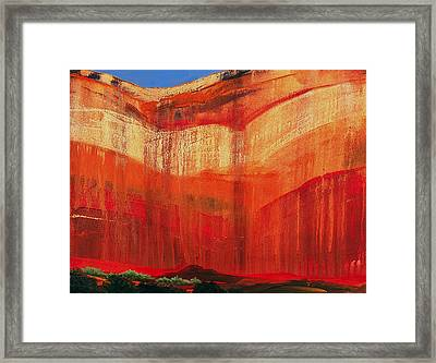 Zion Cove Framed Print by David Rhodes