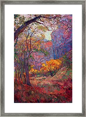 Zion Deep Framed Print