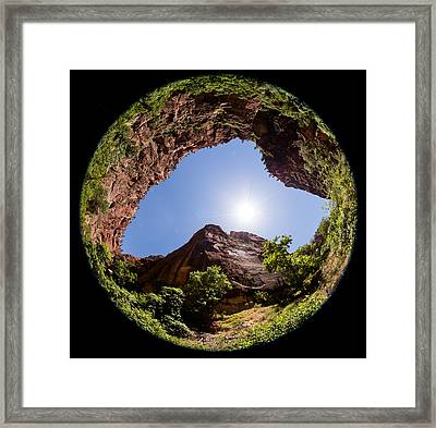 Zion Fisheye 1464 Framed Print