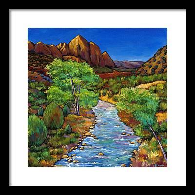 Santa Fe Paintings Framed Prints