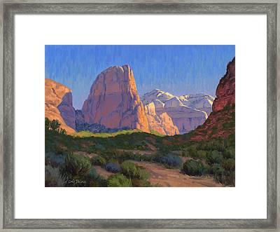 Zion Light Show Framed Print
