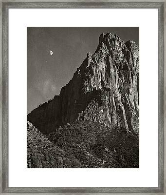 Zion Moonrise Framed Print by Mike McMurray