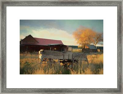 Zion Mountain Ranch Framed Print by Jim Cook