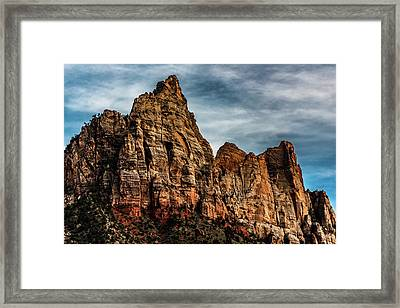 Zion Mountains 2c Framed Print by Don Risi