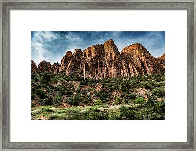 Zion Mountains 3c Framed Print by Don Risi