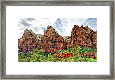 Zion N P # 41 - Court Of The Patriarchs Framed Print