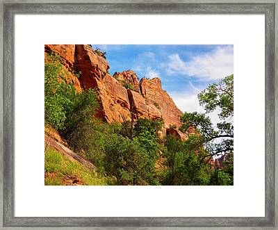 Zion National Park 1 Framed Print by Penny Lisowski