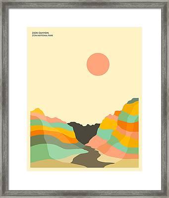 Zion National Park Framed Print by Jazzberry Blue