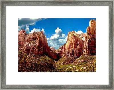 Zion National Park Utah Framed Print by Bob and Nadine Johnston