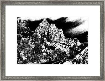 Zion National Park Utah - Ink Framed Print