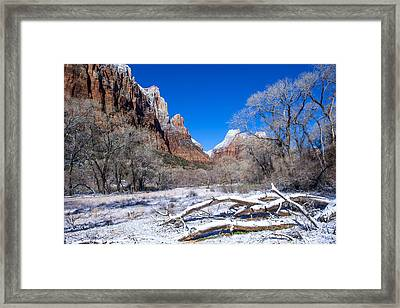 Zion Park Framed Print by Kobby Dagan