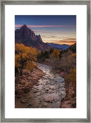 Zion Sunset Framed Print