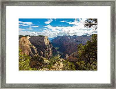 Zion Valley Framed Print by Cole Pattschull