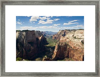 Zion Valley From Observation Point - Color Framed Print by Steven Wilson