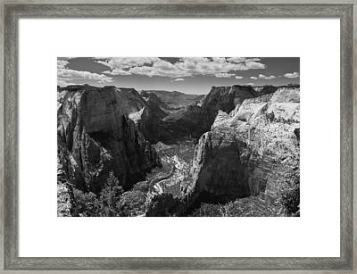 Zion Valley From Observation Point Framed Print by Steven Wilson