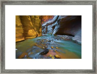 Zion Watercolor Framed Print