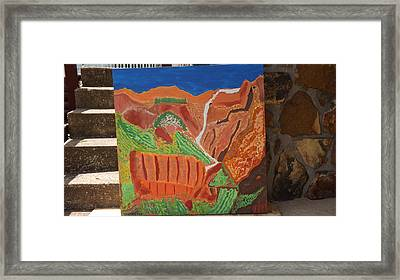 Zion Waterfall  Framed Print