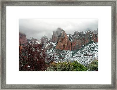 Zion Winter Skyline Framed Print
