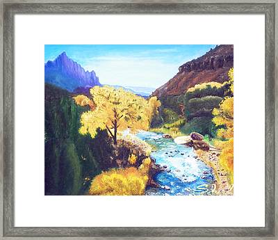 Zion's In Autumn Framed Print