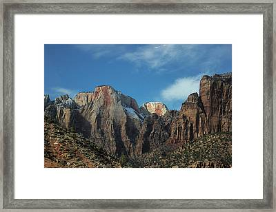 Zion's Rock Towers Framed Print