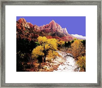Framed Print featuring the photograph Zion's Watchman by Norman Hall